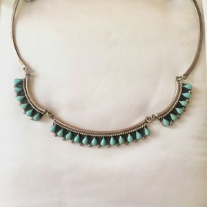 Jewelry - Vintage Silver and Turquoise Necklace